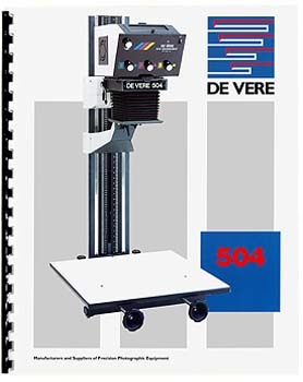 DeVere 504 Enlarger Instruction Manual