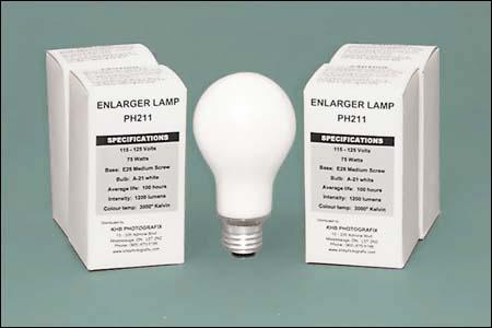 PH211 Opal Enlarging Lamp for condenser enlargers